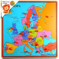 MAPA EUROPY DREWNO
